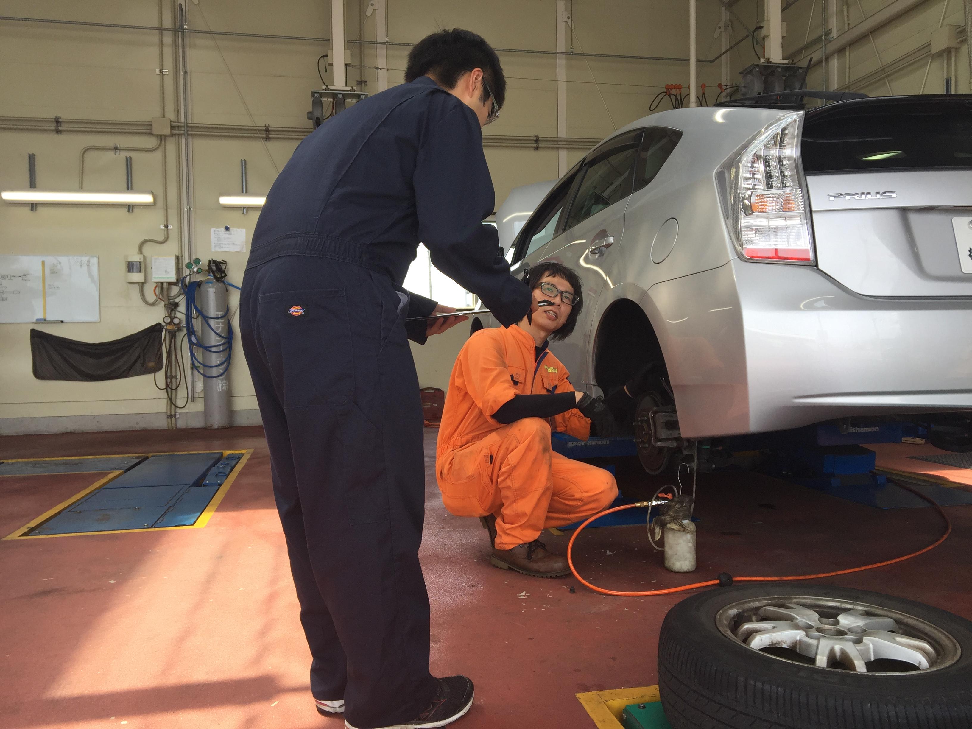 職場体験 車検の速太郎